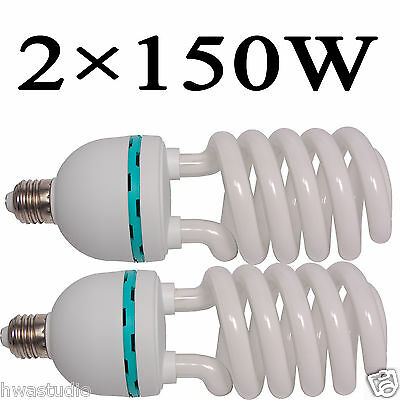 2Pc 150W 5500K E27 Photo Studio Bulb Video Light Daylight Lamp Energy Save Bulb