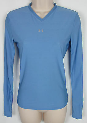 Womens Under Armour athletic shirt Base Layer long sleeve Light Blue Size M