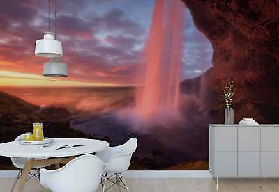 Cave Opening Waterfall Landscape Photo Wallpaper Wall Mural (1X-1312369)