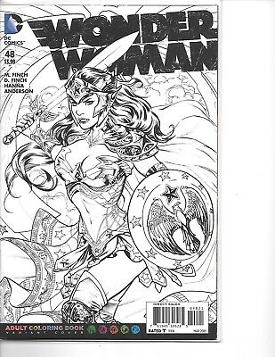 WONDER WOMAN #48 Adult Coloring Book Cover Variant NM DC The New 52
