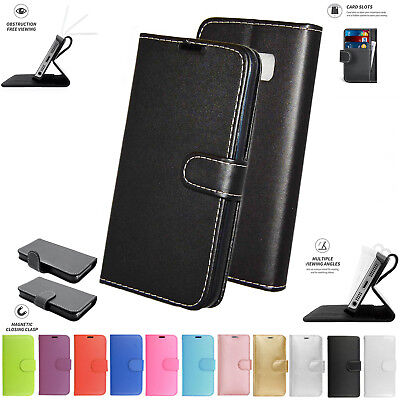 PU Leather Book Wallet Card Flip Stand Case Cover Pouch For Huawei Ascend Y300
