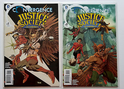 Convergence Justice Society of America #1-2 Full Set (2015 DC) Panosian Covers
