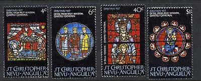 St Christopher Nevis Anguilla 346-9 MNH Christmas, Stained Glass, Nativity