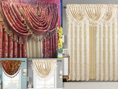 Empire Home Traditional Jacquard Olivia Window Curtain Panel/ Valance Drapery
