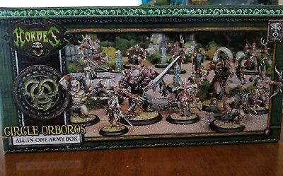 All-in-one Army Box Circle Orboros Warmachine Hordes Miniatures New in Box