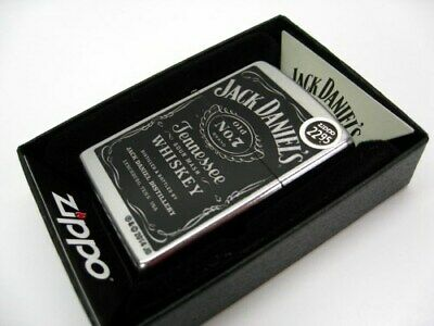 Zippo Full Size Street Chrome Jack Daniel's Old No. 7 Windproof Lighter 24779