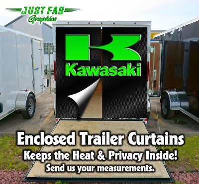 Enclosed Trailer Rear Door Kawasaki Yamaha CanAm Suzuki, KTM, Husqvarna Curtains