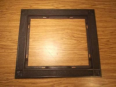 Antique Metal Cast Iron Black  Floor Grate Frame or Repurpose Floral design Nice