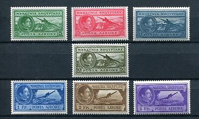 1930.albania.aereo.yvert 29/35 .nuevos With Stamp Hinges(Mh).cat