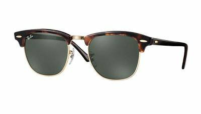 376b4d8915 RAY-BAN CLUBMASTER SUNGLASSES RB3016 W0366 G-15 Lens 51mm Made In ...