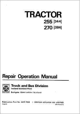 Leyland 255 270 Tractor Service Repair Workshop Service Repair Manual (0042)