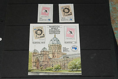 Niuafoou 1984 Ausipex Minature Sheet & Set Of 2  Fine M/n/h Cond