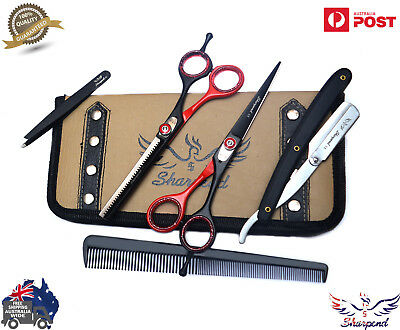 "Professional Barber Hairdressing Scissors Hair Cutting Shear 6"" Japanese Steel"