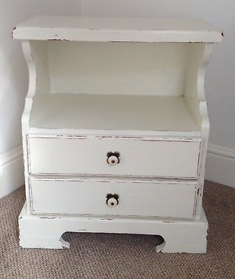 Bedside Cupboard Pine 2  Drawers Shabby Chic