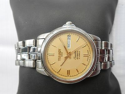 Rare Vintage Ss Swiss Made Gents Tissot Seastar Day N Date Automatic Wristwatch