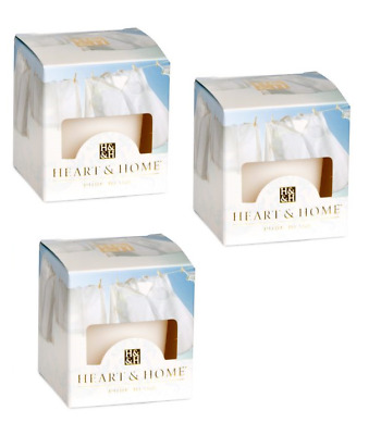 Pack of 3 Heart and Home Fresh Linen Scented Votive Candles