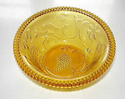 Small Pretty Amber Glass Bowl Floral Decoration Modern Indonesia