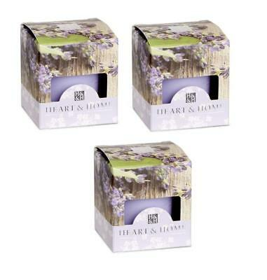 Pack of 3 Heart and Home Lavender & Sage Scented Votive Candles
