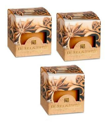 Pack of 3 Heart and Home Cinnamon Spice Scented Votive Candles