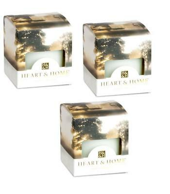Pack of 3 Heart and Home Dawn Mist Scented Votive Candles