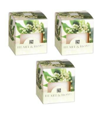 Pack of 3 Heart and Home Lily of the Valley Scented Votive Candles