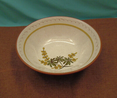 "Beautiful Vintage Hand Painted Stangl Large Serving Bowl - 10""  Golden Blossom"