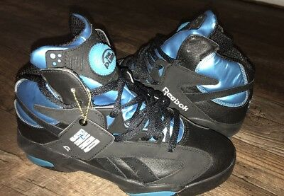 b788fdaaea8a Reebok Shaq Attaq Black Azure Blue Pump V55083 Men s Size 9 Hi Top Sneaker