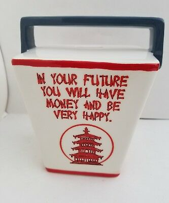 Chinese take out box ceramic piggy bank *NEW*