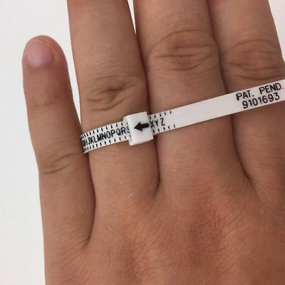 Measure Sizer Gauge Wedding Finger Ring Genuine