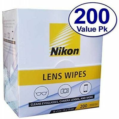 Nikon Pre-Moistened Lens Cleaning Wipes - Cleans Without Streaks for Eyeglasses