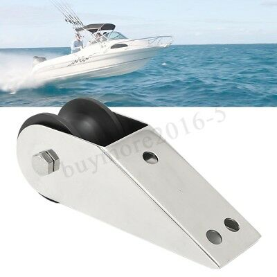 316 Stainless Steel Boat Bow Anchor Rubber Roller For Fixed Marine Yacht Docking