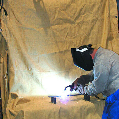 Welding Blanket 4.5'x7' Fire Flame Retardant Fiberglass Safety Shield Grommets