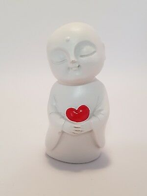 """Jizo of Love Statue Ivory & Red 80mm """"Love & Protection"""" (Post or Local Pickup)"""