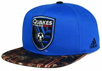 check out 21909 6e033 San Jose Earthquakes adidas MLS Skyline Snapback Cap - Blue Soccer Hat