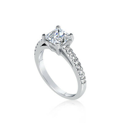 2.30 Ct Princess Cut Vs Diamond Solitaire Engagement Ring 14K White Gold