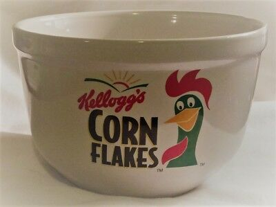 KELLOGG'S CORN FLAKES Cereal Bowl FLAKES ROOSTER 1999 Houston Harvest