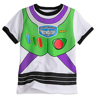 NWT Disney Store Toy Story Buzz Lightyear Costume Boy T Shirt 2/3,5/6,7/8,10/12