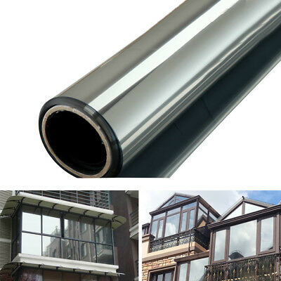 One-way Mirror Window Film Glass Sticker Reflective Insulation Silver Home Decor