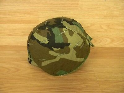 ~Genuine Us Military Reversible Msa Helmet Cover Woodland Desert Medium Large