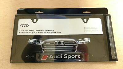 AUDI GENUINE OEM License Plate Frame Stainless Steel KDX - Audi license plate frame