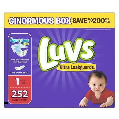 Luvs Ultra Leakguards Disposable Diapers Newborn Size 1, 252 Count, ONE...