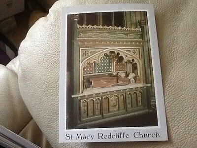 Postcard - Church of St Mary Redcliffe, Bristol, UK (A)