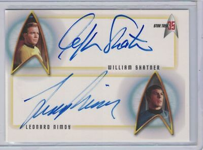 Star Trek 35th Anniversary William Shatner & Leonard Nimoy double autograph