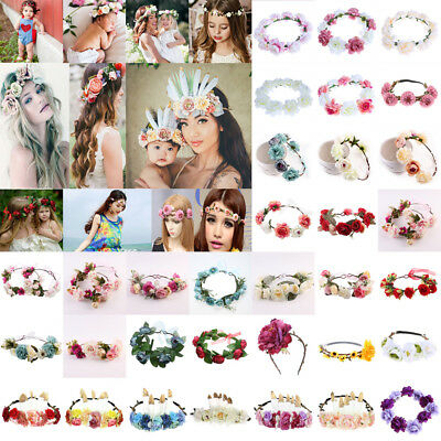 Flower Hairband Floral Crown Headband Headdress Girl Party Bride Wedding Lot