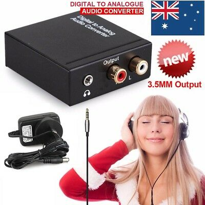 Digital Optical Coaxial Toslink to Analog Audio Converter Cable Adapter RCA New