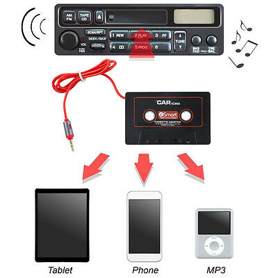 Car Cassette Tape Adapter 3.5mm AUX CD Player Stereo for MP3 Phone Pod Tab UKPL