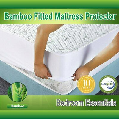 Mattress Protector Waterproof Bamboo Hypoallergenic Fitted Mattress Cover LOT