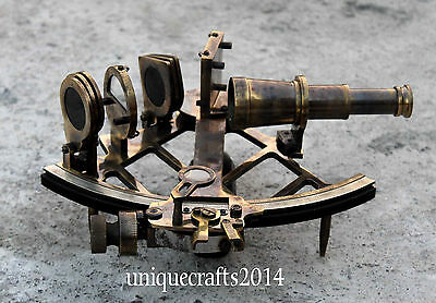 "Marine Maritime Antique Brass Working Sextant 9"" Astrolabe Ship Instrument"