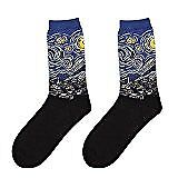 Men Personality Art Retro Oil Painting Pattern Casual Socks