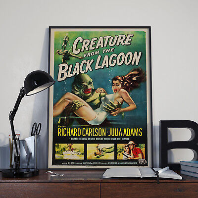 Creature From The Black Lagoon Movie Film Poster Print Picture A3 A4
